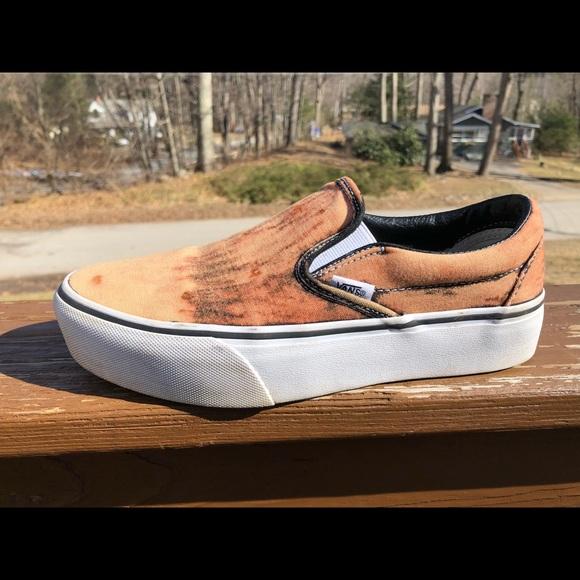 Custom Platform Slip On Vans   Poshmark